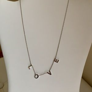 """NECKLACE, LOVE, 18"""" LONG W/ 2"""" EXTENDER"""